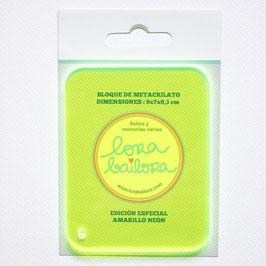 Acrylblock LORABAILORA Gelb Neon 9x7x0,3
