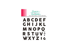 Clear Stamps Set LORABAILORA ABC Bold