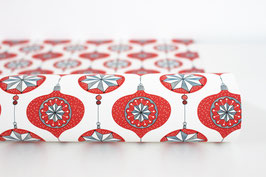 "Christmas Wrapping Paper ""Bauble03"", red (3 sheets)"