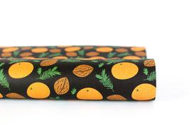"Wrapping Paper ""Mandarin"", Black"