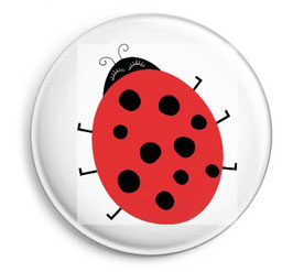 """Button """"Ladybird"""""""