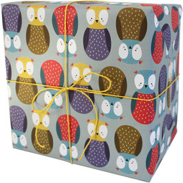 "Wrapping Paper ""Owl"" (3 sheets)"