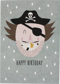 "Postcard ""Pirate"" - Happy Birthday"""