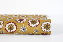 "Christmas Wrapping Paper ""Bauble02"", ochre (3 sheets)"