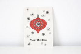 """Christmas Postcard """"Bauble02"""" - Merry Christmas"""