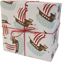 """Wrapping Paper """"Pirate Ships"""" (3 sheets)"""