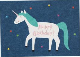 "Postcard ""Unicorn - Happy Birthday"