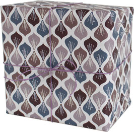 """Wrapping Paper """"Blossoms"""", aubergine/purple (3 sheets)"""
