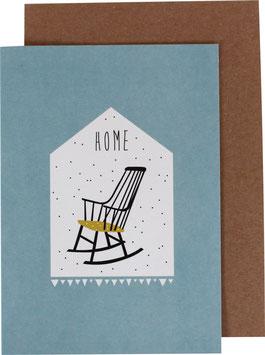 "Greeting Card ""Rocking Chair"" - Home"