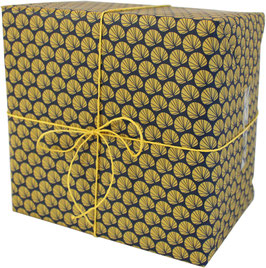 """Wrapping Paper """"Palm Leaves"""", ocre/blue (3 sheets)"""
