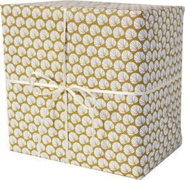 """Wrapping Paper """"Palm Leaves"""", ocre/white (3 sheets)"""