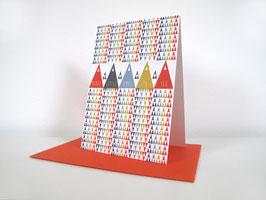 """Christmas Card """"Merry X"""""""