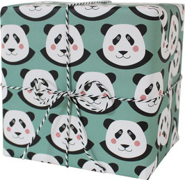 Wrapping Paper Panda Bear (3 sheets)