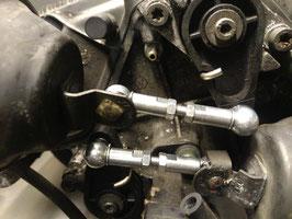 Koppelstangen Saugrohrverstellung Edelstahl LANG für 3.7er Motoren