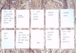 Kaarten met een knipoog deel II - set van 10