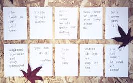 Kaarten om te inspireren - set van 10
