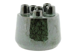 Metallic groene tulpenvaas