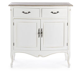 Bizzotto - Kommode Justine - Shabby Chic - Weiss