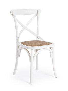 Bizzotto - Stuhl X-Chair - Holz - weiss