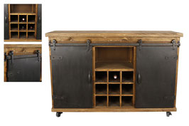 Sideboard - Wine - Metall/Holz