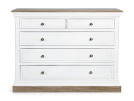 Bizzotto - Kommode Lincoln - Shabby Chic - weiss