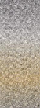 Amoroso Farbe 1 Voluminöses Kettengarn mit Tweed-Noppen aus Seide & Dégradé-Effekt Grège/Grünbeige/Hellgrau/Sandgelb