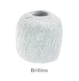 Brillino Farbe 10, Weiß/Silber, Beilaufgarn mit farbigem Lurexfaden