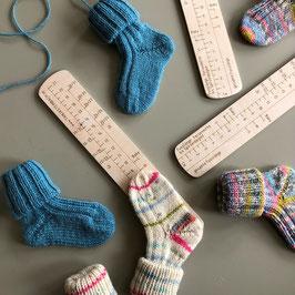 Sockenlineal Baby von Tanja Steinbach