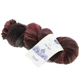 Cool Wool Big Hand-Dyed Farbe 205, Masala - Terracotta/Nougat/Brombeer, Extrafeine Merinowolle waschmaschinenfest und filzfrei, handgefärbt