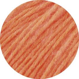 Ecopuno Farbe 51 Leuchtorange, Edles Garn aus Baumwolle mit Merino und Alpaka