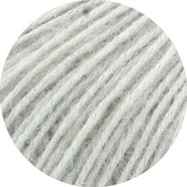 Ecopuno Farbe 45 Silbergrau, Edles Garn aus Baumwolle mit Merino und Alpaka
