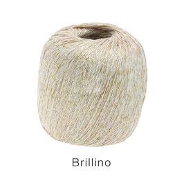 Brillino Farbe 9, Weiß/Gold, Beilaufgarn mit farbigem Lurexfaden
