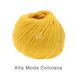 Alta Moda Cotolana Farbe 1, Gelb, Edles Kettengarn aus Merino und Pima Baumwolle