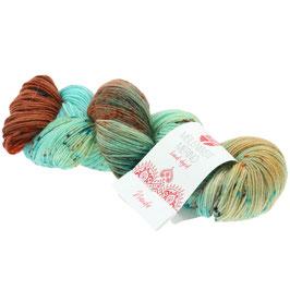 Meilenweit 100 Merino Hand-Dyed  Farbe 308, Nanda, Sockengarn aus Merinowolle, waschmaschinenfest, handgefärbt