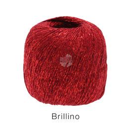 Brillino Farbe 17, Rot, Beilaufgarn mit farbigem Lurexfaden