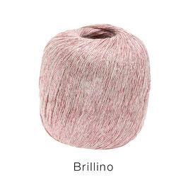 Brillino Farbe 8, Weiß/Rosa, Beilaufgarn mit farbigem Lurexfaden