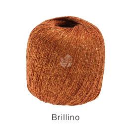 Brillino Farbe 1, Kupferrot, Beilaufgarn mit farbigem Lurexfaden