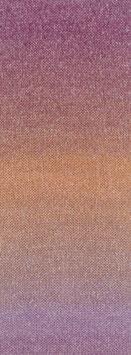 Amoroso Farbe 5 Voluminöses Kettengarn mit Tweed-Noppen aus Seide & Dégradé-Effekt Altrosa/Fuchsia/Orange