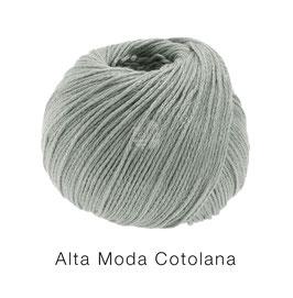 Alta Moda Cotolana Farbe 9, Grüngrau, Edles Kettengarn aus Merino und Pima Baumwolle