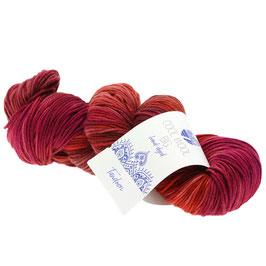 Cool Wool Big Hand-Dyed Farbe 201, Tandoori - Rot/Terracotta/Pink, Extrafeine Merinowolle waschmaschinenfest und filzfrei, handgefärbt
