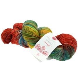 Meilenweit 100 Merino Hand-Dyed  Farbe 408, Tapi, Sockengarn aus Merinowolle, waschmaschinenfest, handgefärbt