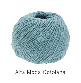 Alta Moda Cotolana Farbe 12, Pastelltürkis, Edles Kettengarn aus Merino und Pima Baumwolle