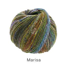 Marisa Farb-Nr. 6, Lila/Türkis/Moosgrün/Ocker/Flieder/Oliv, Klassisch verzwirntes Streichgarn aus Merinowolle