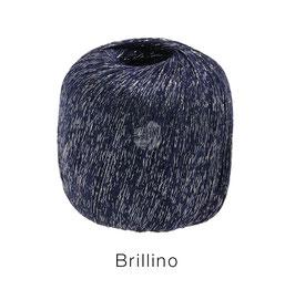 Brillino Farbe 12, Nachtblau/Silbert, Beilaufgarn mit farbigem Lurexfaden