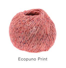 Ecopuno Print Farbe 103 Hummer bunt, Edles Garn aus Baumwolle mit Merino und Alpaka