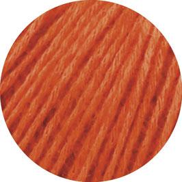 Ecopuno Farbe 34 Rotorange, Edles Garn aus Baumwolle mit Merino und Alpaka