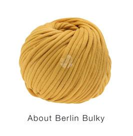 About Berlin Bulky  Farbe 1, Goldgelb Schlauch-Bändchengarn