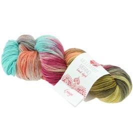 Meilenweit 100 Merino Hand-Dyed  Farbe 407, Ganga, Sockengarn aus Merinowolle, waschmaschinenfest, handgefärbt