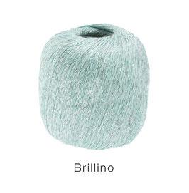 Brillino Farbe 11, Pastellgrün/Silber, Beilaufgarn mit farbigem Lurexfaden