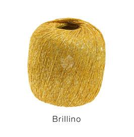 Brillino Farbe 3, Gelbgold, Beilaufgarn mit farbigem Lurexfaden